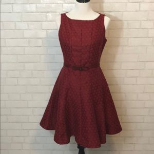 Red Polka Dot Dress with Bow Belt